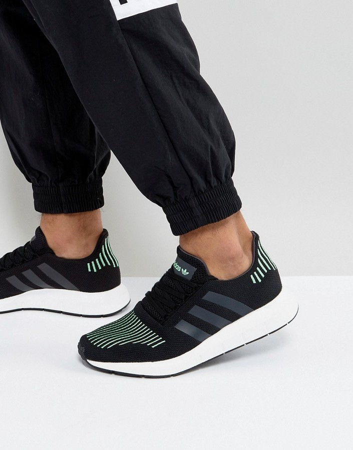 5290719a55392 ... adidas Originals Swift Run Sneakers In Black Cg4110 ...