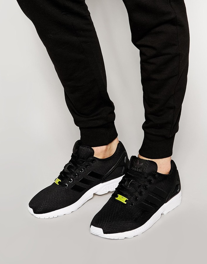 cb347349a026 ... Black Low Top Sneakers adidas Originals Zx Flux Sneakers M19840 ...