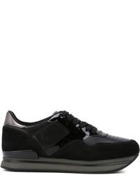 Hogan Panelled Low Top Sneakers