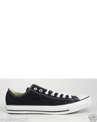 Converse Shoes All Star Low Top Canvas Black Chucks Sneakers 95 Medium