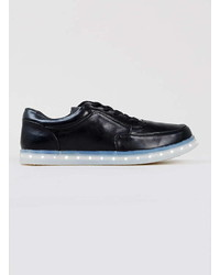Topman Glow Black Trainers With Lights