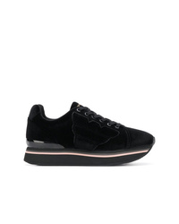 Emporio Armani Velvet Platform Low Top Sneakers