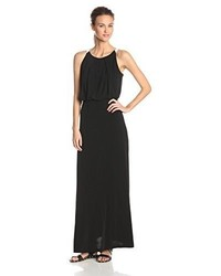 Andrew Marc Marc New York Halter Neck Color Block Maxi Dress