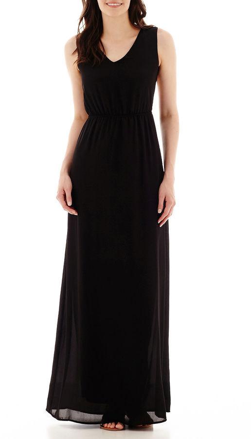 Jcpenney Dqt True Color Sleeveless Open Back Maxi Dress Tall 70