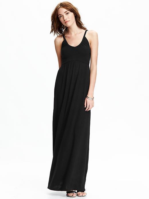 83566b34534 ... Black Maxi Dresses Old Navy Jersey Empire Waist Maxis ...