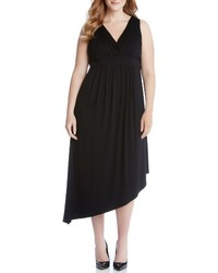 Karen Kane Plus Size Asymmetrical Jersey Maxi Dress