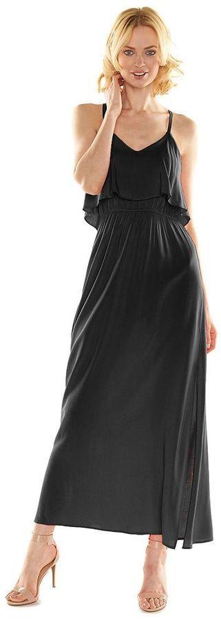 Lauren Conrad Lc Floral Popover Maxi Dress 68 Kohls Lookastic