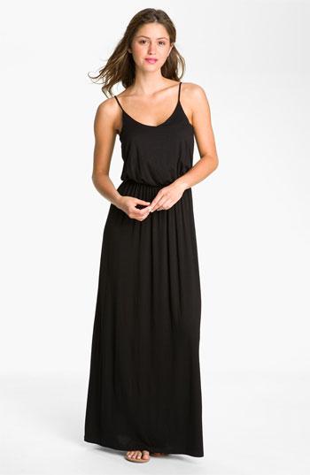Knit Maxi Dress Black Medium