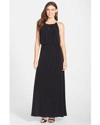 Andrew Marc Marc New York By Jersey Halter Blouson Maxi Dress