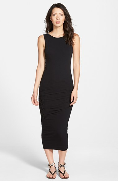 James Perse Open Back Skinny Maxi Dress Where To Buy How To Wear