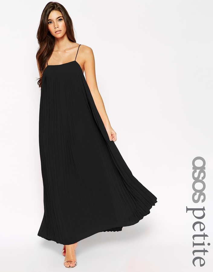 Asos Petite Maxi Dress With Pleats | Where to buy & how to wear