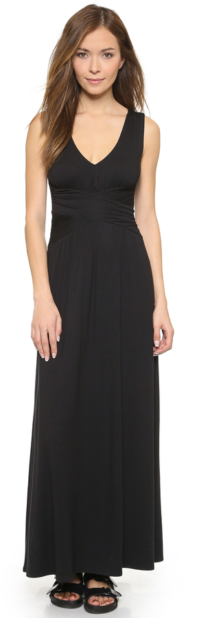 Three Dots V Neck Maxi Dress Where To Buy How To Wear