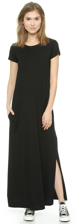 Wilt Maxi Tee Dress With Slit  Where to buy &amp how to wear