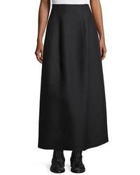 The Row Batley Wool Silk A Line Maxi Skirt