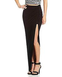 Gianni Bini Cassie Ruched Slit Maxi Skirt