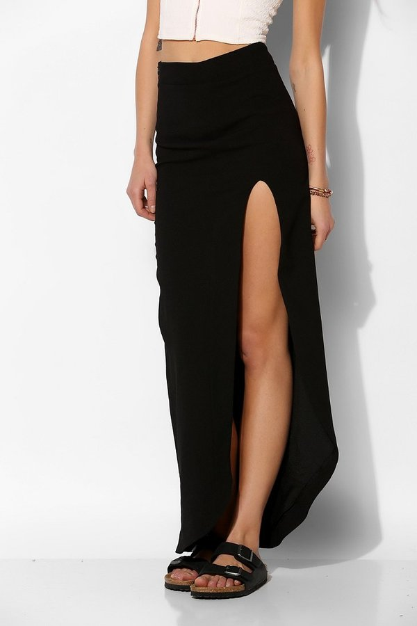 UO Dress The Population Arlene High Slit Maxi Skirt | Where to buy ...