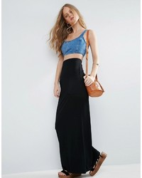 Asos Jersey Maxi Skirt With Pockets