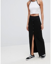 Asos Maxi Skirt With Poppers