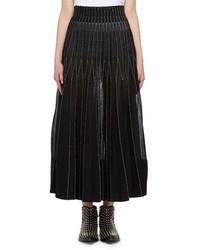 Alexander McQueen Metallic Needlepoint Maxi Skirt
