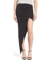 Ruched asymmetrical maxi skirt medium 517224
