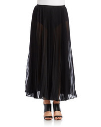 DKNY Sunburst Pleat Maxi Skirt