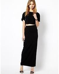 Vila Tube Maxi Skirt Black