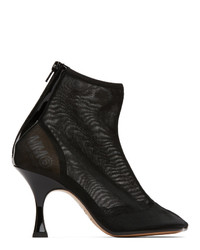 MM6 MAISON MARGIELA Black Mesh Ankle Boot