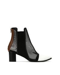 Gloria Coelho Mesh Panels Boots
