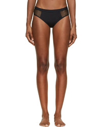 Alexander Wang T By Black Mesh Panel Bikini Bottoms