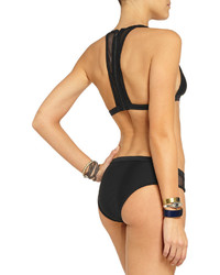 Alexander Wang T By Mesh Trimmed Bikini Top