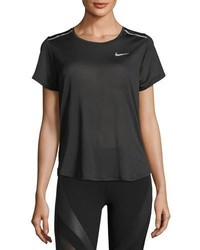 Nike Breathe Short Sleeve Open Back Running Top