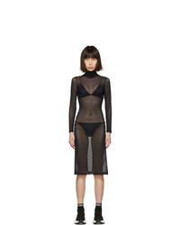 MM6 MAISON MARGIELA Black Turtleneck Dress