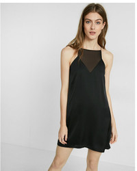 Express Mesh Inset Satin Slip Dress