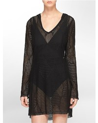 Calvin Klein Mesh Hooded Cover Up