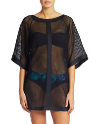 Carmen Marc Valvo Mesh Swim Cover Up