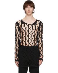 Rick Owens Black Net Sweater