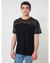 American apparel athletic contrast tee medium 148486