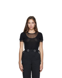 Proenza Schouler Black Layered Short Sleeve T Shirt