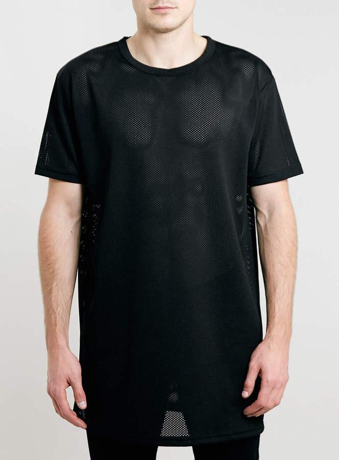 Topman Black Long Line Mesh T Shirt | Where to buy & how to wear