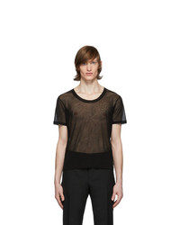 Saint Laurent Black Transparent T Shirt