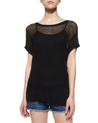 Rag and Bone Rag Bonejean Odette Mesh Knit Tee Black