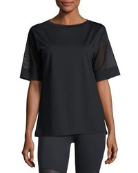 Varley rutline mesh sleeve performance tee black medium 3665682