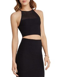 BCBGeneration Mesh Crop Top