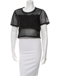 JONATHAN SIMKHAI Mesh Panel Crop Top