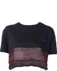 Vivienne Westwood Gold Label Mesh Hem Cropped T Shirt