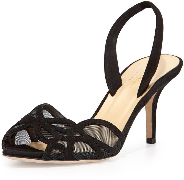 Kate Spade New York Sarita Meshsuede Halter Strap Sandal