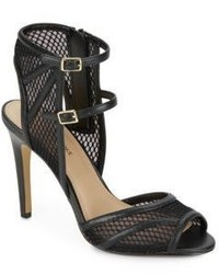 Saks Fifth Avenue Riva Double Strap Mesh Sandals