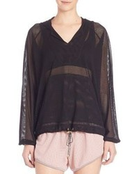 Free People Movet Just Breathe Mesh Hoodie