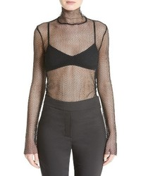 Funnel neck mesh top medium 3639451