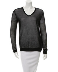 Tibi Mesh Long Sleeve Top